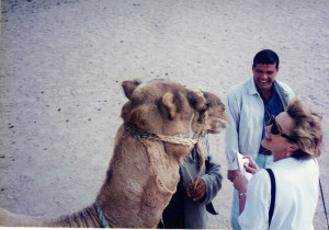 Over the years I have interviewed a number of travel experts including this camel in Egypt!