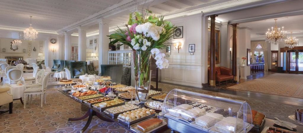 Mt Nelson's afternoon tea. Image courtesy of Belmond Mt Nelson