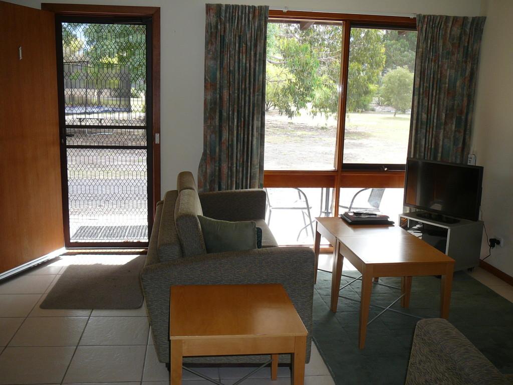 The living area, Halls Haven Resort Grampians Victoria