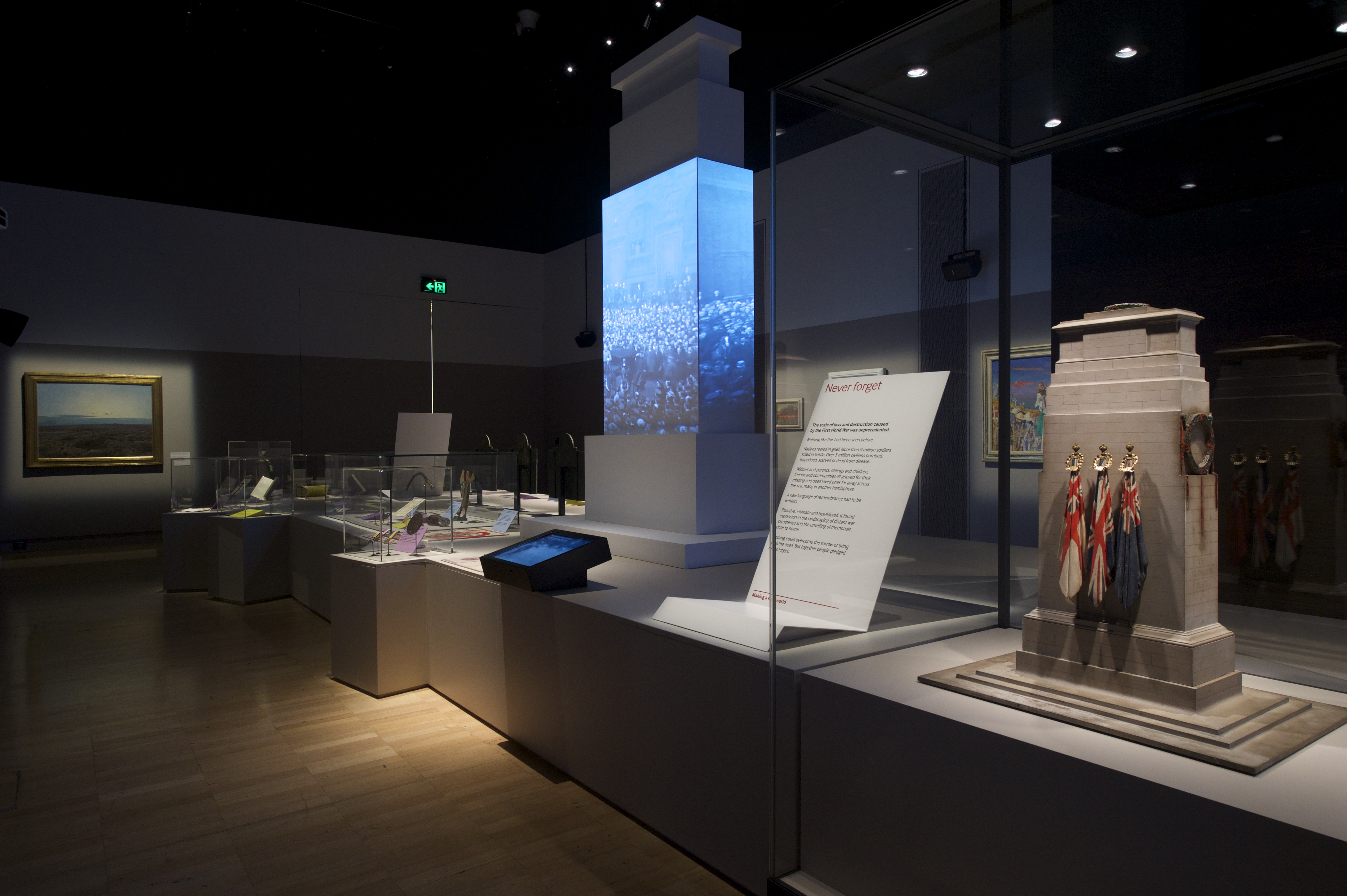 The Making A New World `story area;. Image courtesy WW1 Centenary Exhibition, Melbourne Museum