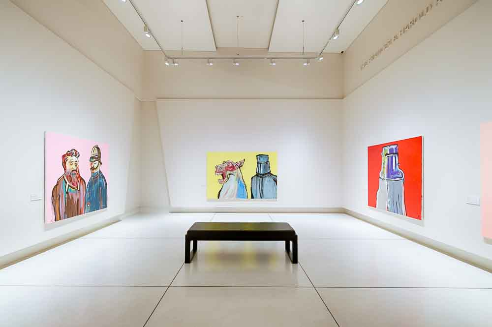Another of the rooms devoted to Kelly at Bendigo Art Gallery's Imagining Ned exhibition. Image courtesy Bendigo Art Gallery.