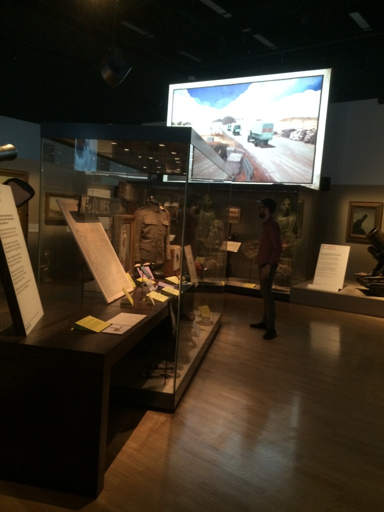 the exhibition includes new technology and displays of personal items