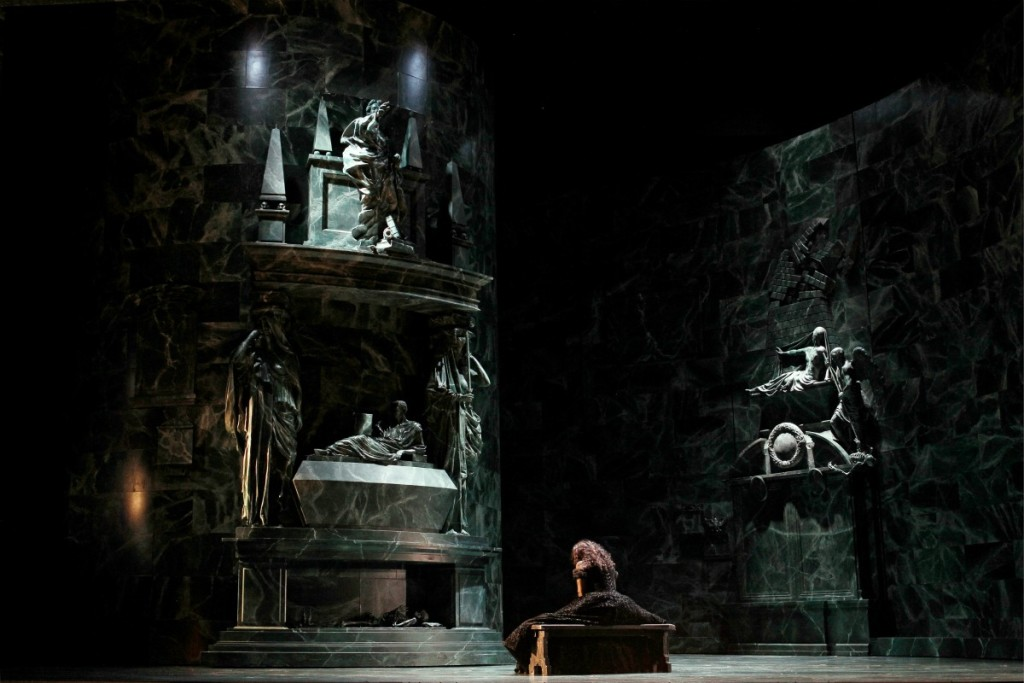 Victoria Yastrebova (Elisabeth de Valois) in the tomb of Charles V. Picture by Jeff Busby.