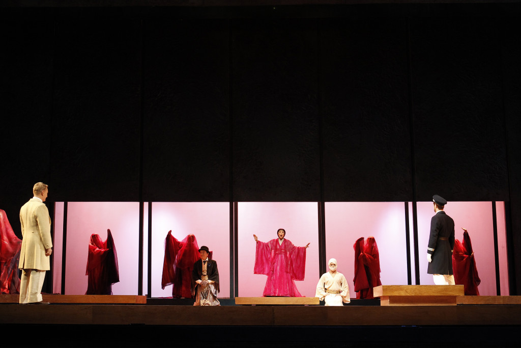 The cast of Opera Australia's Madama Butterfly. Picture by Jeff Busby.