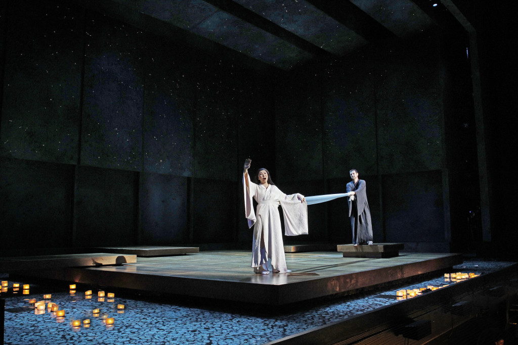 Hiromi Omura and James Egglestone in Opera Australia's Madama Butterfly. Picture by Jeff Busby.