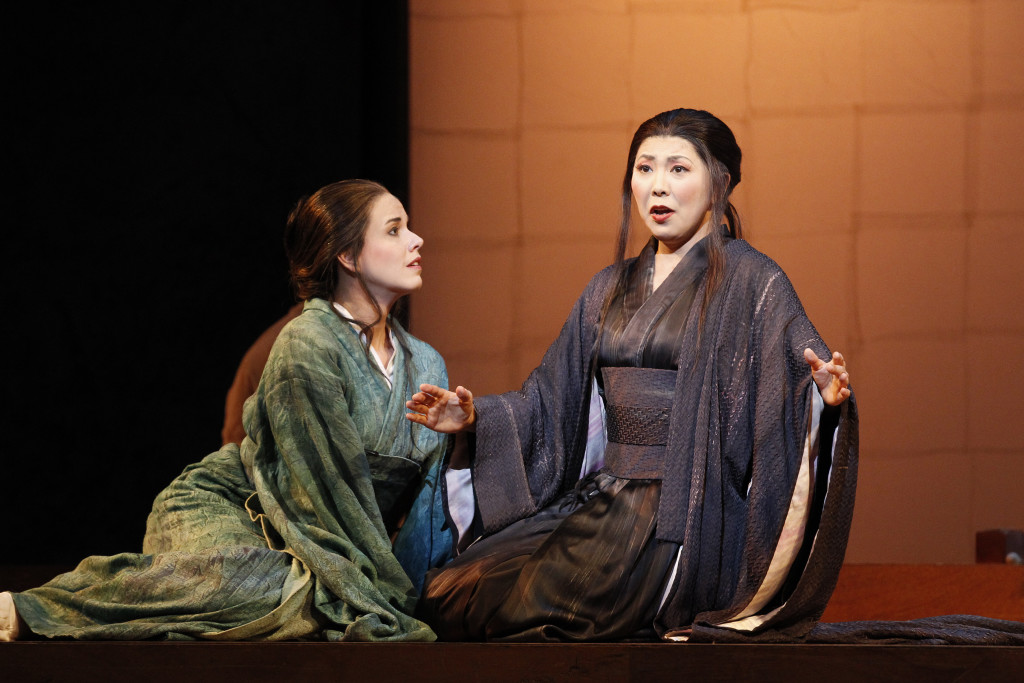 Hiromi Omura and Sian Pendry in Opera Australia's Madama Butterfly. Picture by Jeff Busby.