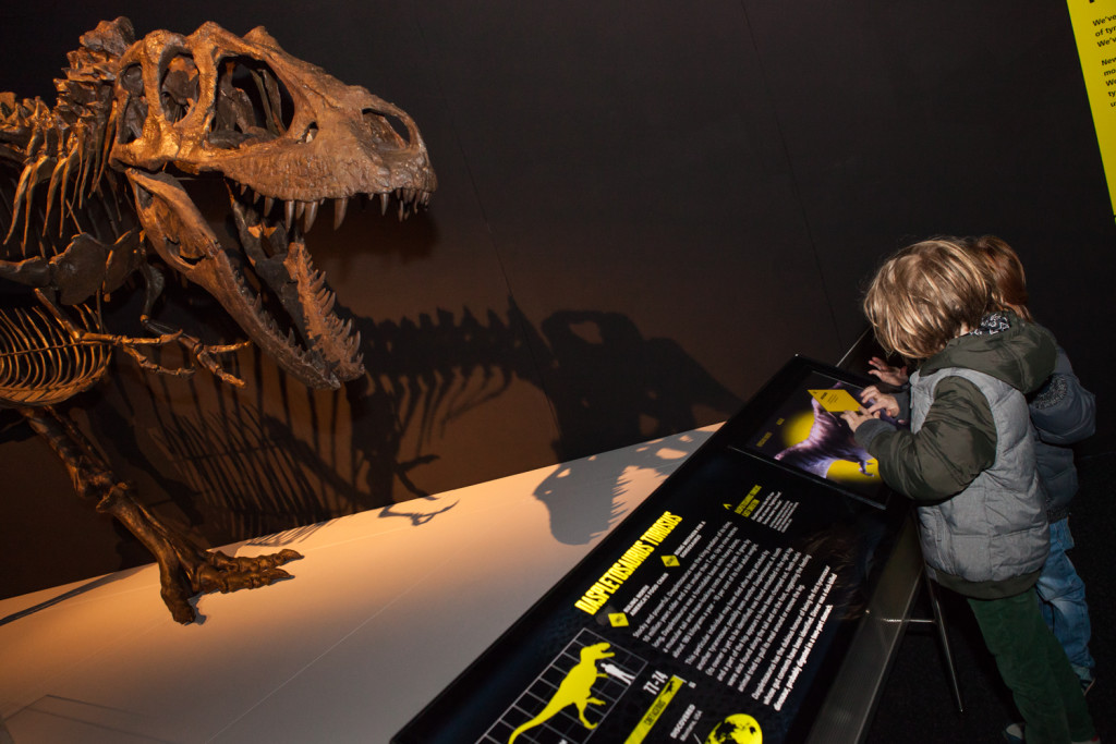 One of many exhibits at Scienceworks' Tyrannosaurs Meet the_Family exhibition. Picture by Mark Gambino.