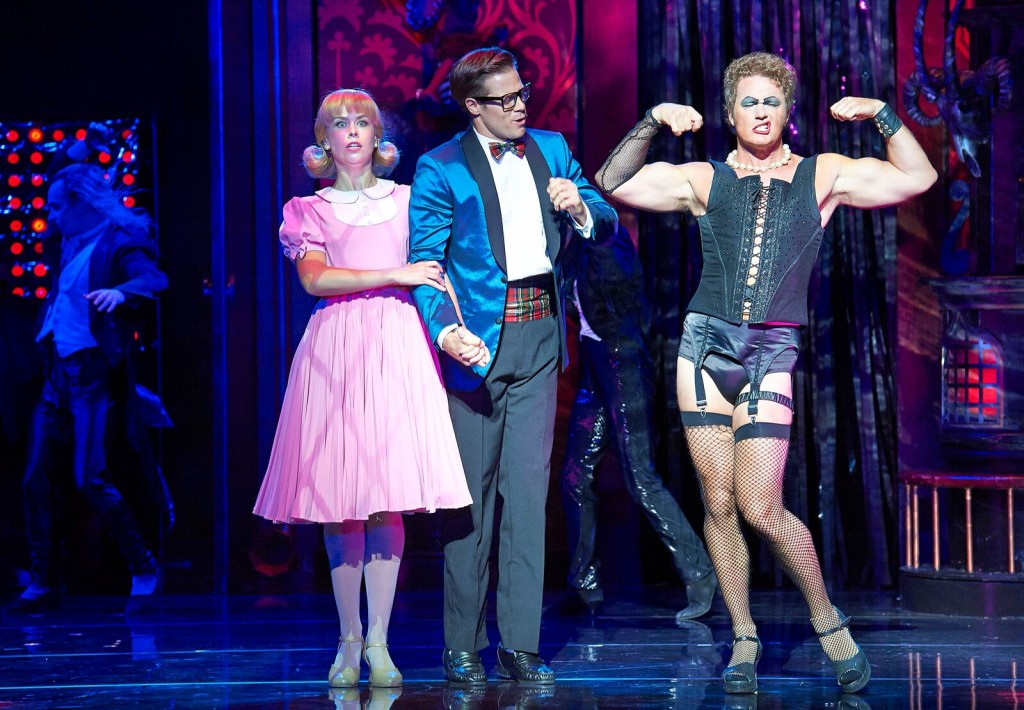 Amy Lehpamer,Stephen Mahy and Craig McLachlan in Rocky Horror. Picture by Brian Geach.