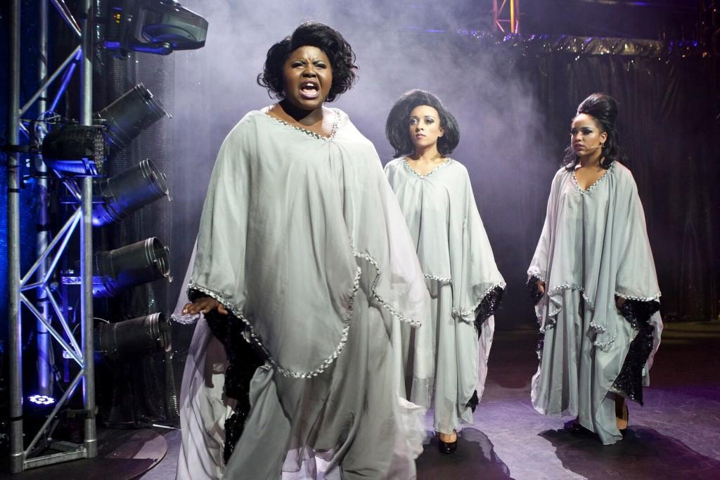 Thando Sikwila, Anna Francesca and Armenia, Zenya Carmellotti in Dreamgirls. Picture by Belinda Strodder