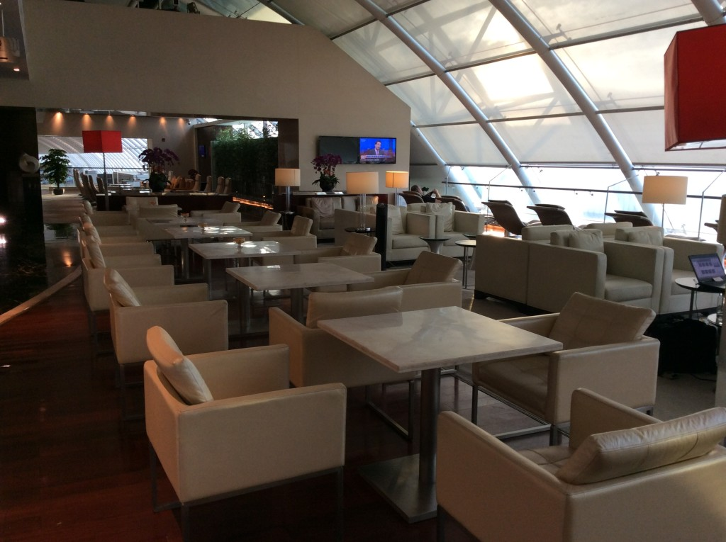 The China Southern Lounge at Guangzhou airport