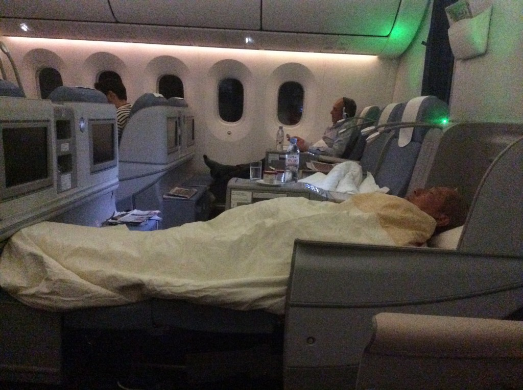 China Southern's 787 business class cabin.