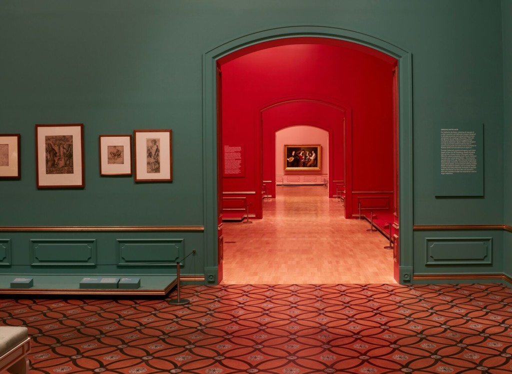 Installation view of Masterpieces from the Hermitage: The Legacy of Catherine the Great, Photo by Sean Fennessy.