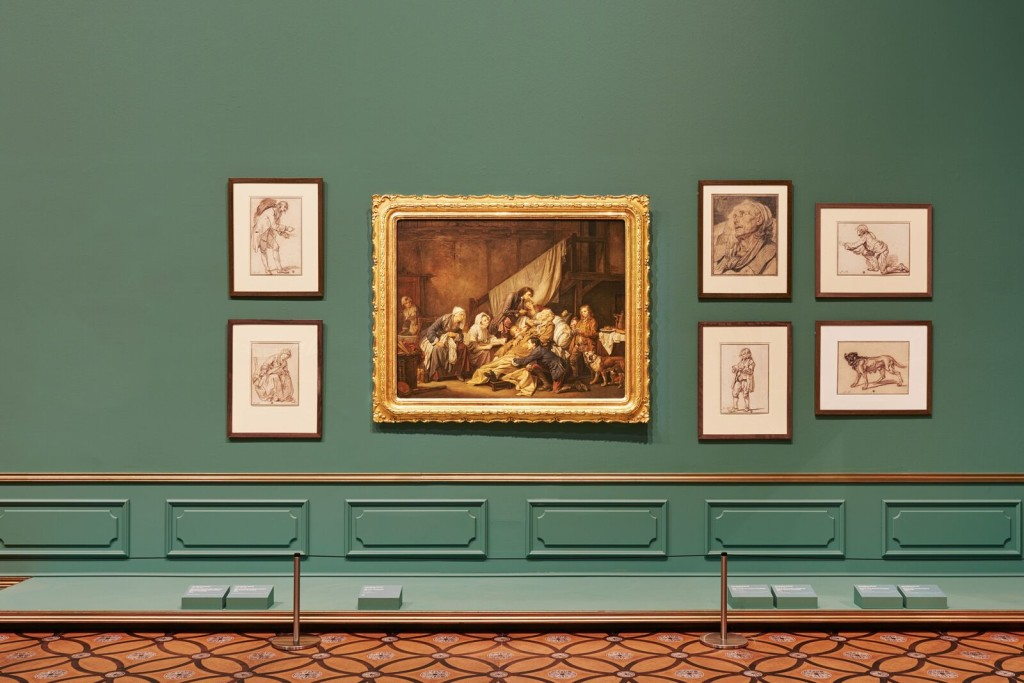 Installation view of Masterpieces from the Hermitage: The Legacy of Catherine the Great. Photo by Brooke Holm.