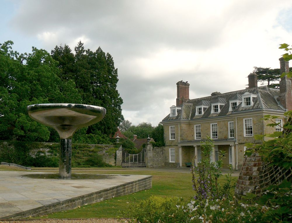 The house with William Pye's water feature.