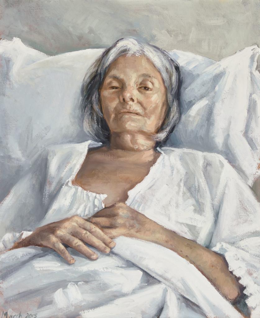 2015 Archibald Prize finalist Peter Churcher The last portrait oil on canvas 65 x 54 cm © the artist Photo: © AGNSW, Felicity Jenkins