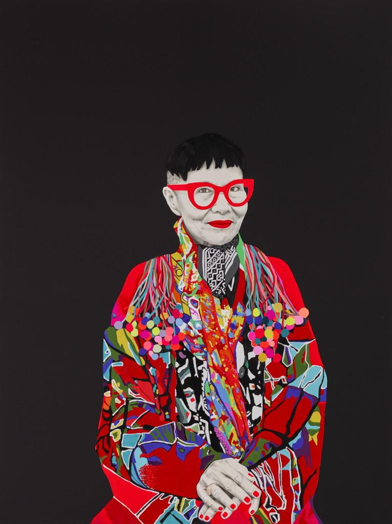 2015 Archibald Prize finalist Carla Fletcher Jenny Kee mixed media on linen 203 x 153.5 cm © the artist Photo: © AGNSW, Felicity Jenkins
