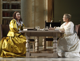 Jane Ede (Countess) and Taryn Fiebig (Susanna).