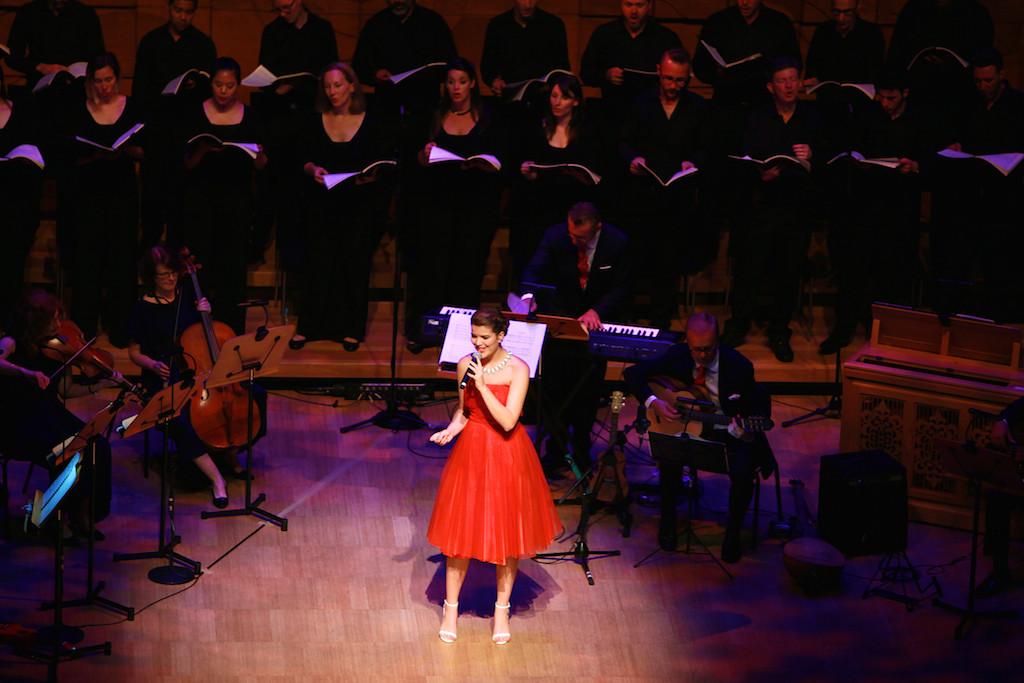 Emma Birdsall and the choir