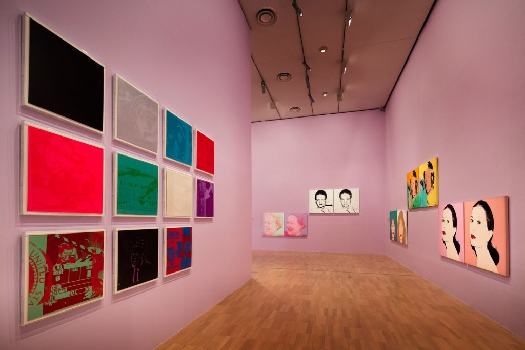 Installation view of the Andy Warhol | Ai Weiwei exhibition at the National Gallery of Victoria, 11 December 2015 –24 April 2016. Andy Warhol artwork © 2015 The Andy Warhol Foundation for the Visual Arts, Inc./ARS, New York. Administered by Viscopy, Sydney. Photo: John Gollings