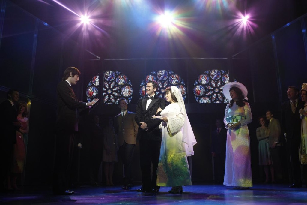 The wedding of Judith Durham (Pippa Grandison) to Ron Edgeworth (Adam Murphy) is included in the show.