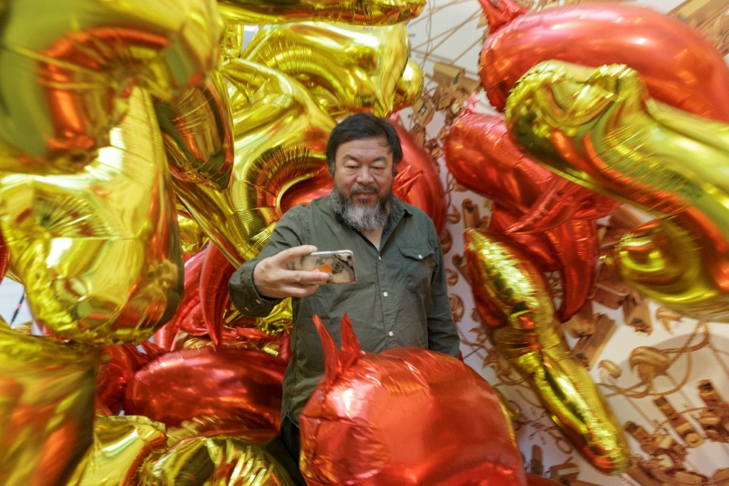 Ai Weiwei at National Gallery of Victoria exhibition Andy Warhol | Ai Weiwei, 11 December 2015 –24 April 2016 Ai Weiwei artwork © Ai Weiwei. Photo: John Gollings