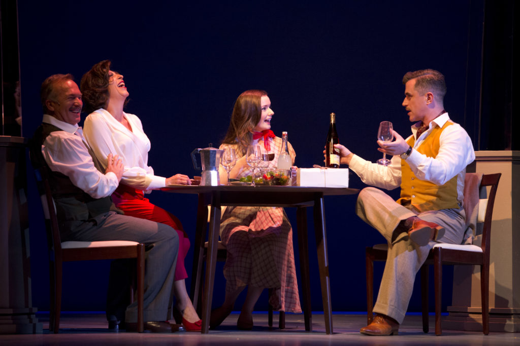 Greg Stone, Natalie Gamsu, Sarah Morrison and Bobby Fox in Ladies in Black. Picture: Lisa Tomasetti.