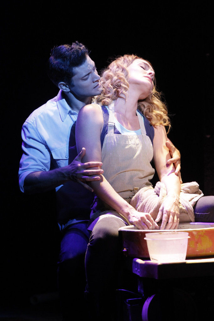 Rob Mills and Jemma Rix in Ghost the Musical. Photo Jeff Busby.