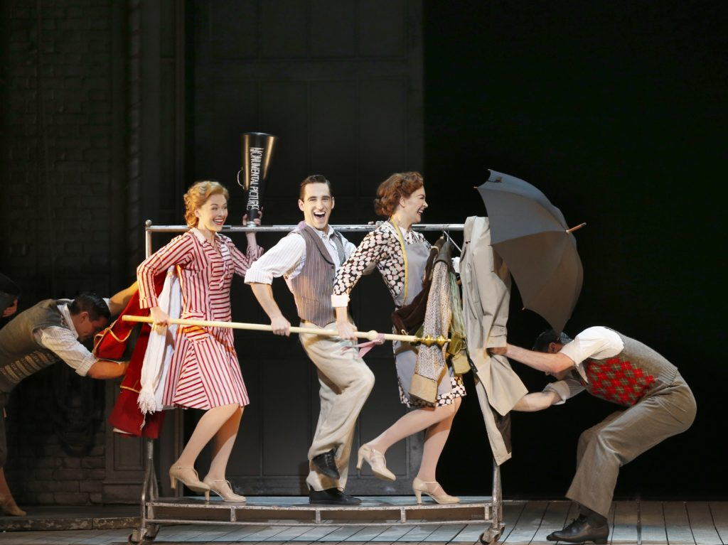 Jack Chambers and the ensemble in Singin in the Rain.