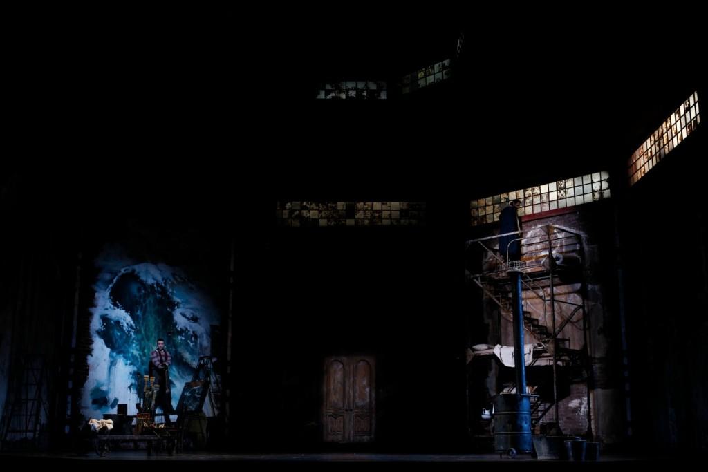 The studio set in Opera Australia's La Bohème