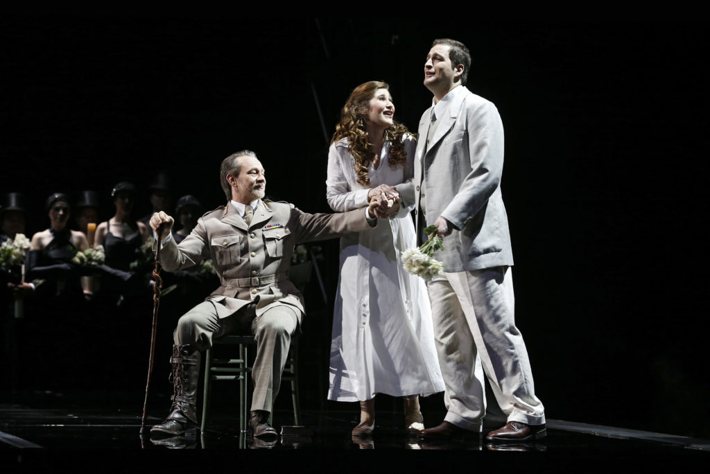 Michael Honeyman, Riccardo Massi and Nicole Car in Luisa Miller