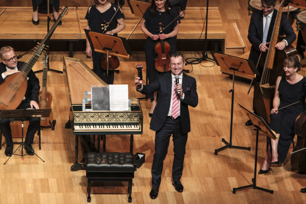 Paul Dyer shows Melbourne audiences the The Helpmann for Best Chamber and/or Instrumental Ensemble Concert won by ABO