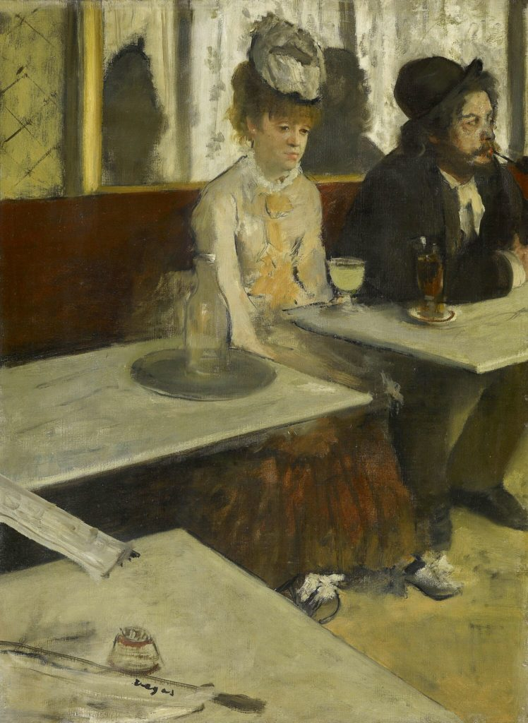 In a café (The Absinthe drinker) c. 1875–76 oil on canvas 92 x 68.5 cm Musée d'Orsay, Paris (RF 1984) © RMN-Grand Palais (Musée d'Orsay) / Martine Beck
