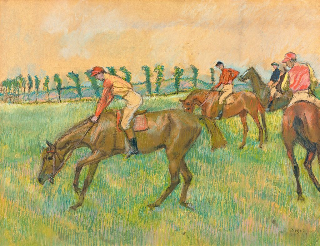 Edgar Degas Before the race c. 1883 – 90 pastel 49.0 x 62.0 cm (sheet) Private collection