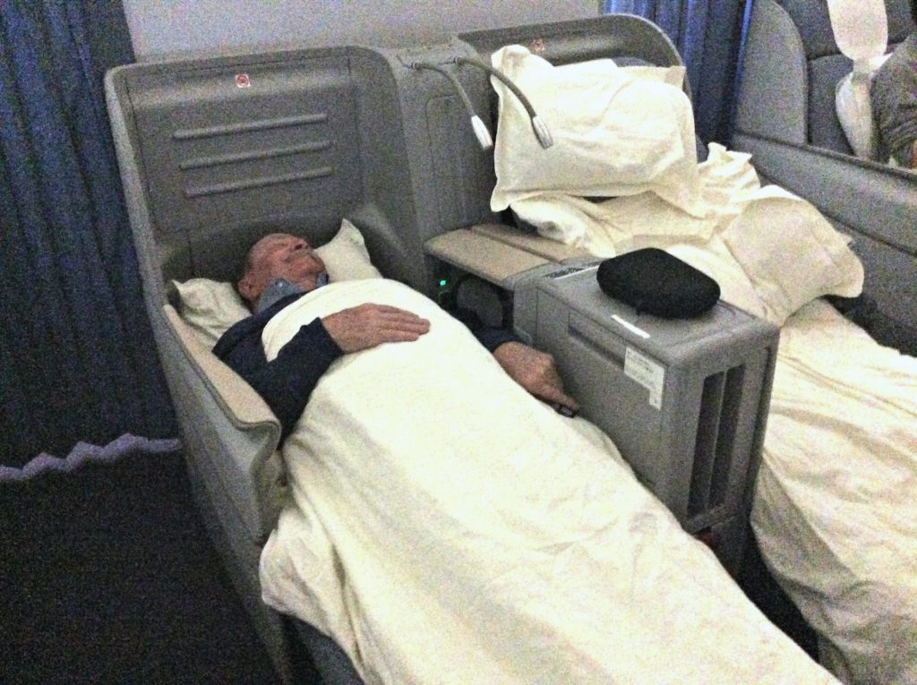 The bed on the B747