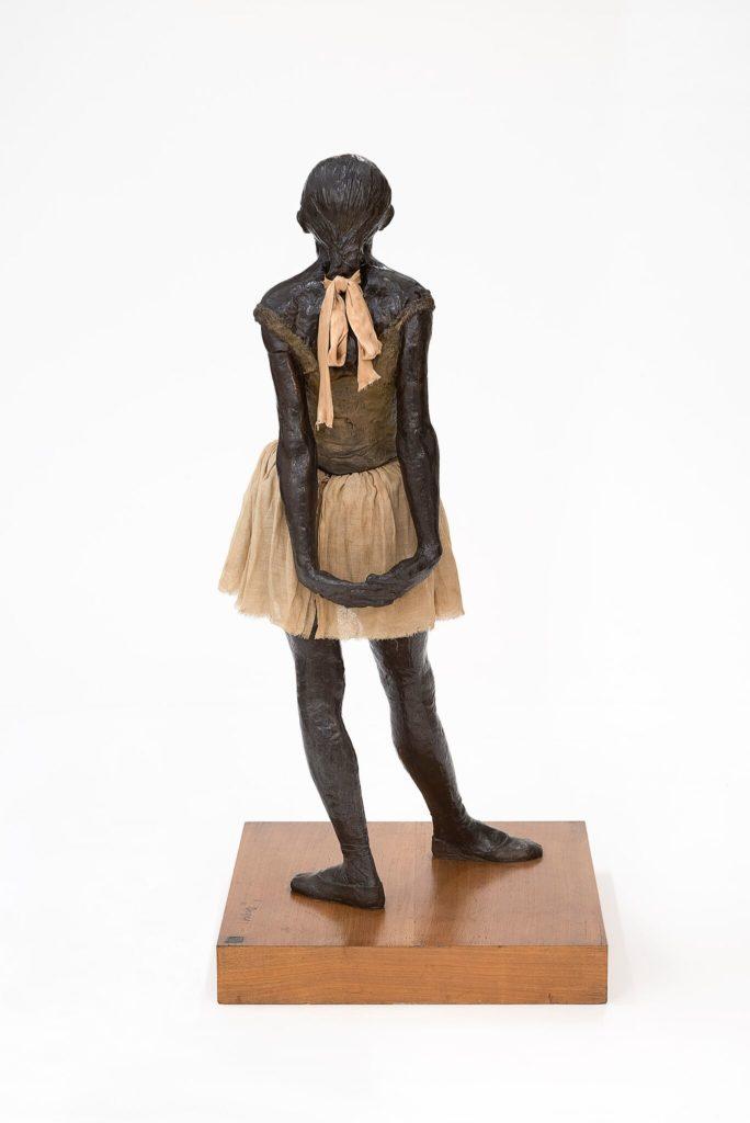 Edgar Degas The little fourteen - year - old dancer 1879 – 81, cast 1922 – 37 bronze with cotton skirt and satin ribbon 99.0 x 35.2 x 24.5 cm Czestochowski/Pingeot 73 (cast unlettered) Museu de Arte de São Paulo, Assis Chateaubriand Donated by Alberto José Alves, Alberto Alves Filho and Alcino Ribeiro de Lima (426 E)