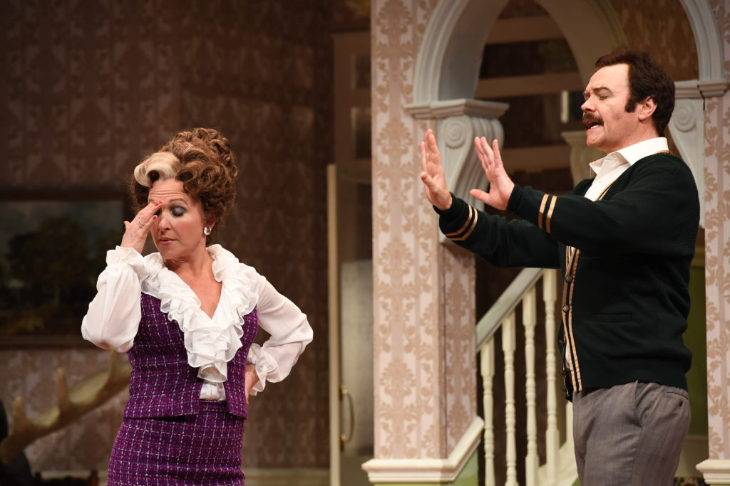 Blazey Best and Stephen Hall in Fawlty Towers Live on Stage.