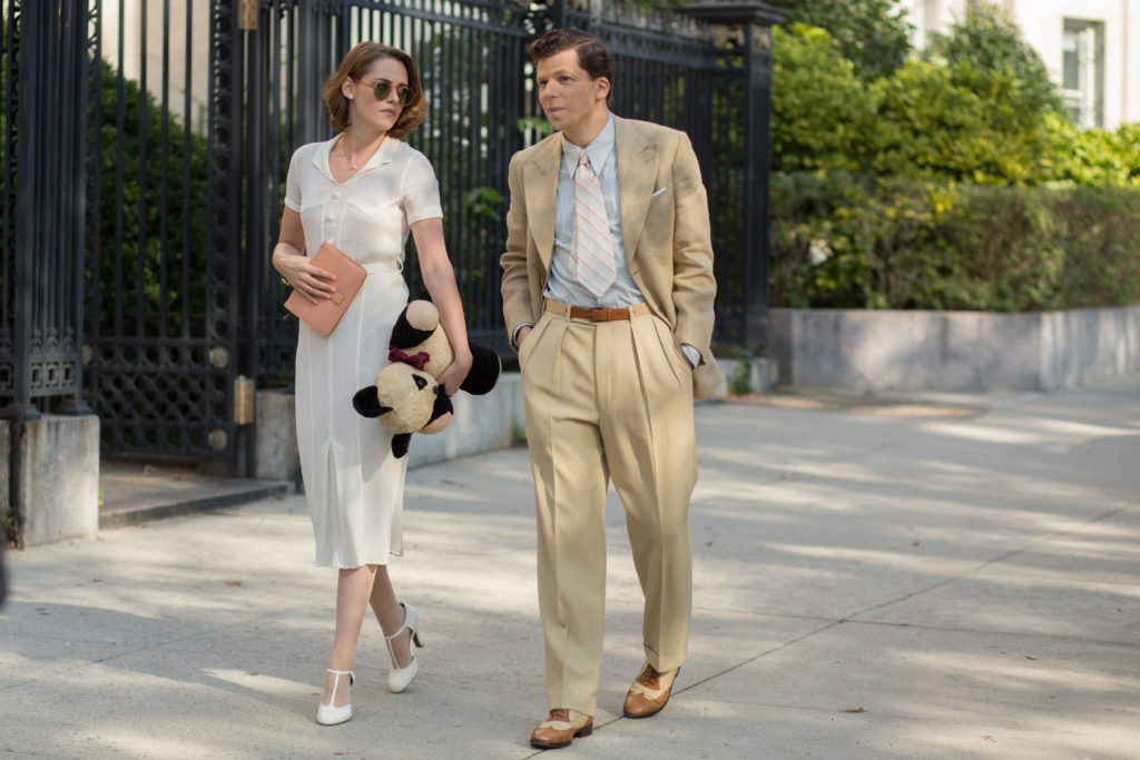 Bobby (Jesse Eisenberg) and Vonnie (Kristen Stewart) in a scene from CAFÉ SOCIETY directed by Woody Allen, in cinemas October 20, 2016. An Entertainment One Films release.