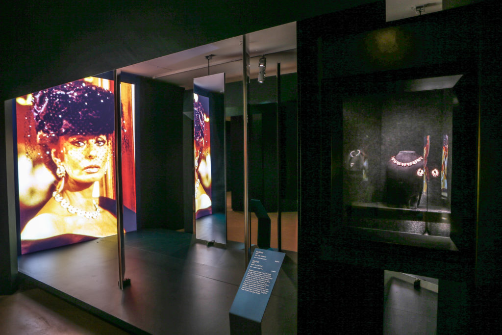 Installation view of Italian Jewels: Bulgari Style at NGV International: Photo: Wayne Taylor