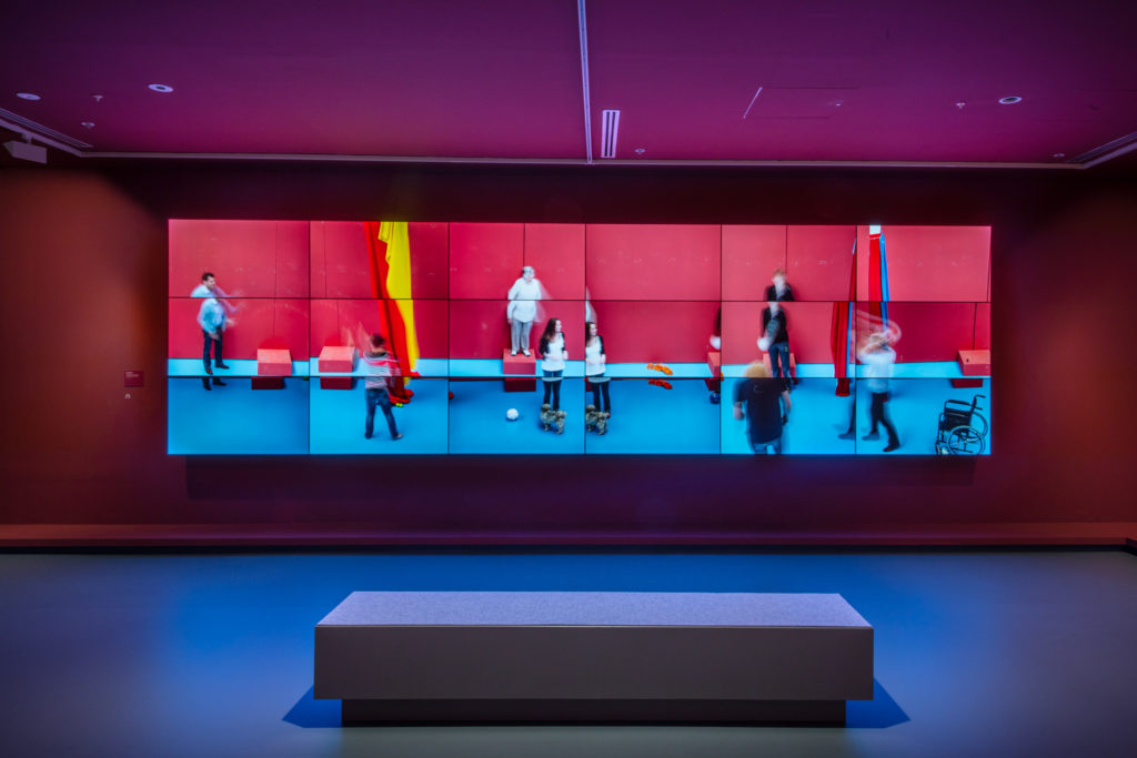 The Jugglers part of the David Hockney Exhibition at the NGV