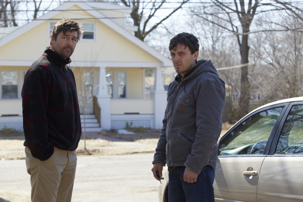 Kyle Chandler and Casey Affleck in Kenneth LonerganÔÇÖs MANCHESTER BY THE SEA. Photo credit_ Claire Folger Courtesy of Amazon Studios