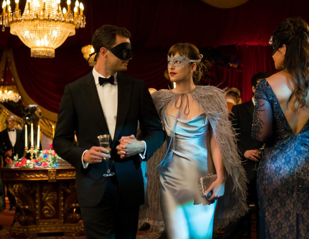Dakota Johnson and Jamie Dornan in Fifty Shades Darker.