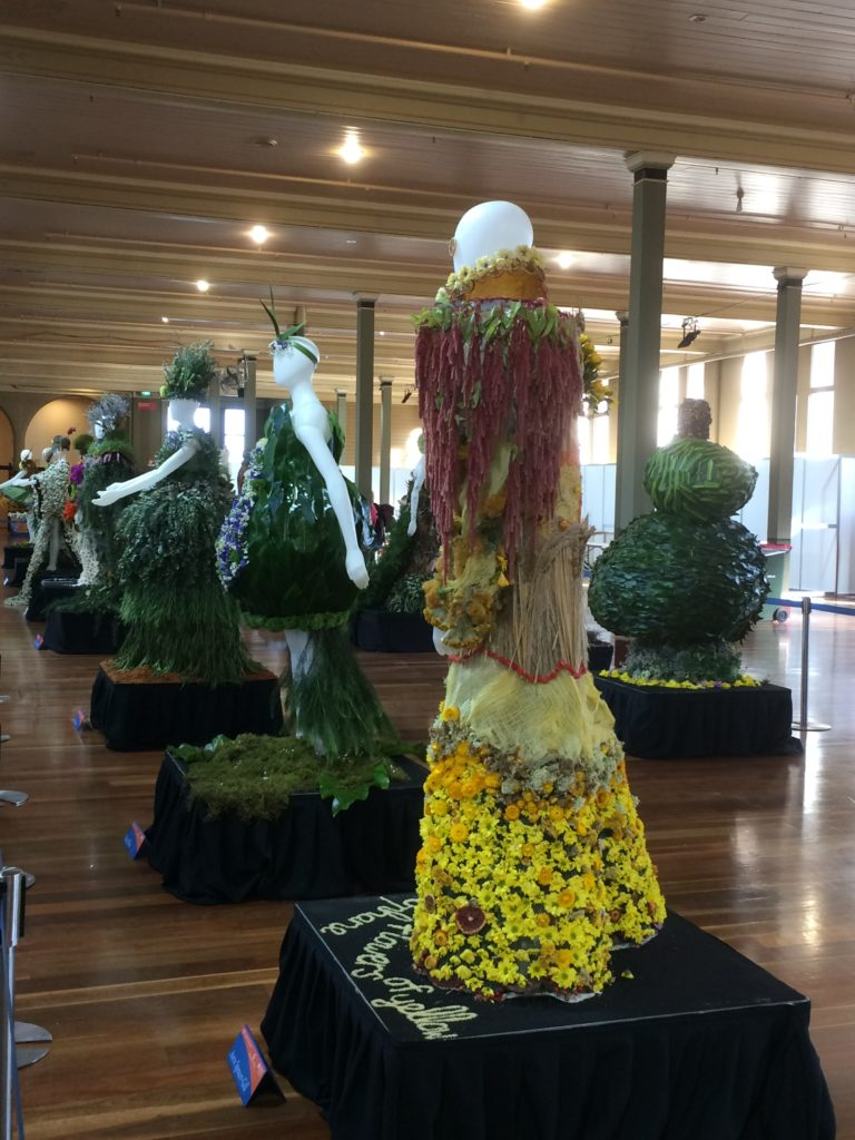Entries in the RMIT Floral Fashion Display.