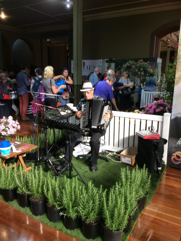 Live entertainment is another feature of the International Flower and Garden Show.