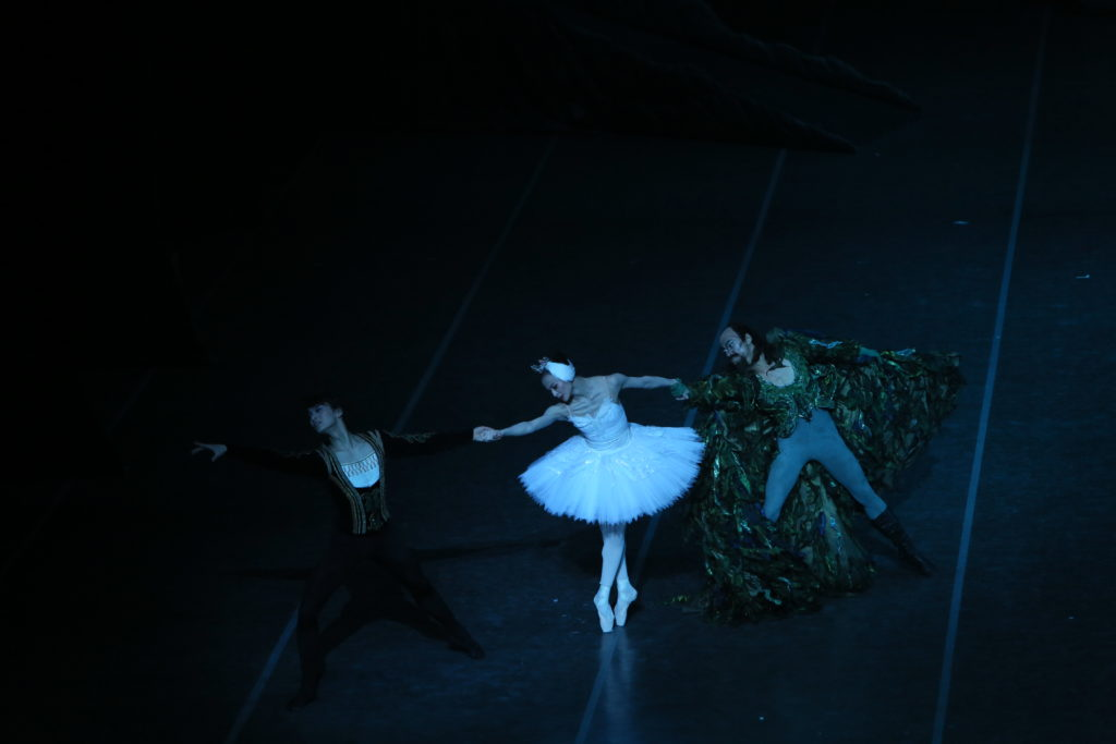 Prince Siegfried, Swan Princess Odette and Rothbart.