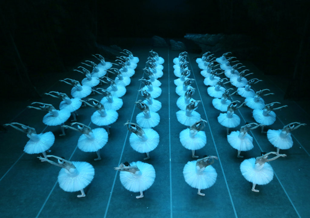 Shanghai Ballet's Swan Lake lake scene features 48 dancers.
