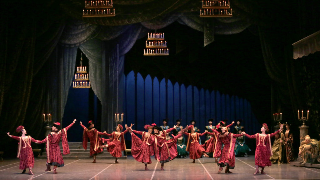 The Great Hall of Castle scene is Shanghai Ballet's Swan Lake.