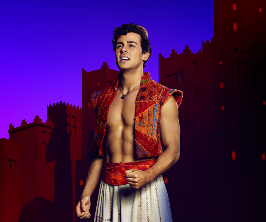 Ainsley Melham makes a great Aladdin. Photo Michele Aboud.