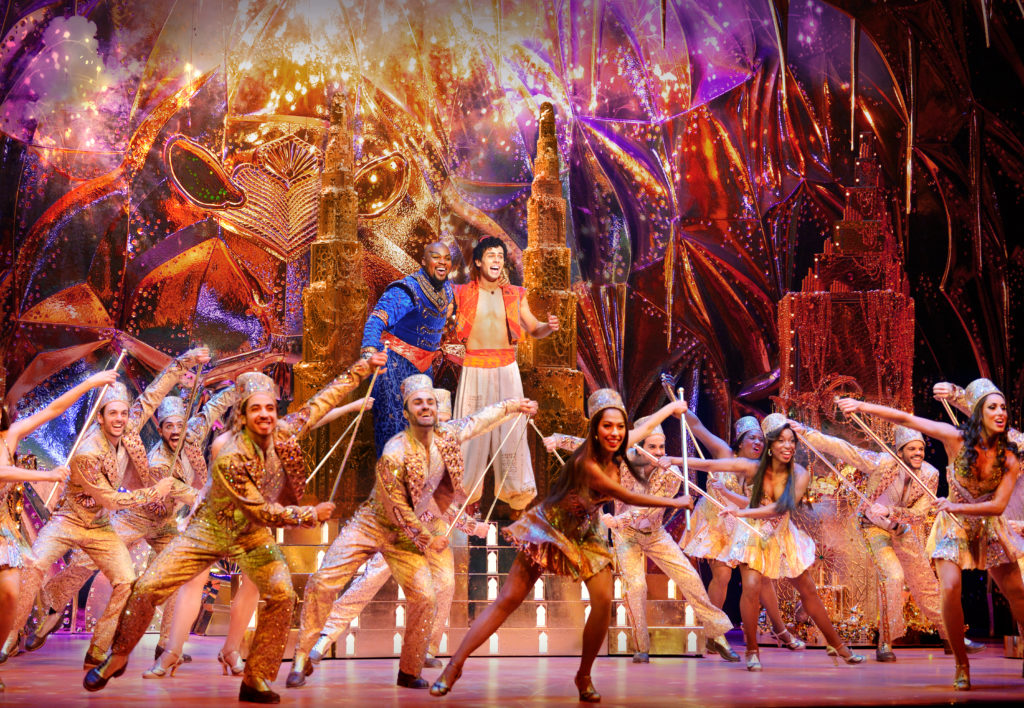 Aladdin's cast in action. Photo By Deen van Meer