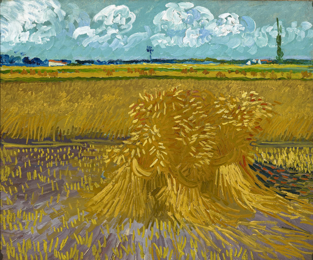 Wheatfield 1888 Arles, oil on canvas 55.2 x 66.7 cm. Honolulu Museum of Art, Hawaii. Gift of Mrs Richard A. Cooke and family in memory of Richard A. Cooke, 1946 (377.1).