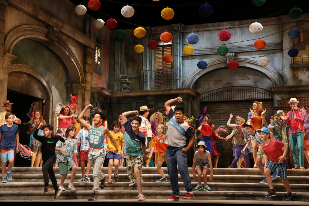 The Opera Australia Chorus and Children's Chorus in Opera Australia's 2017 production of Carmen.